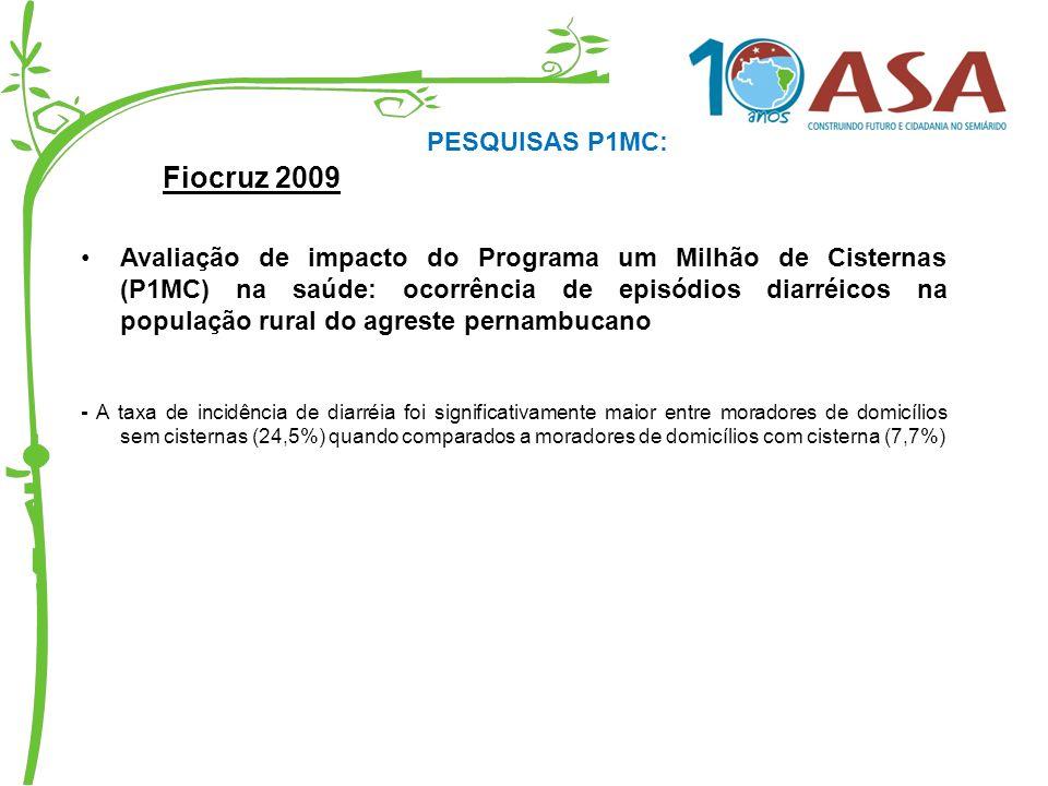 Fiocruz 2009 PESQUISAS P1MC: