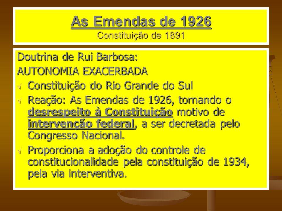As Emendas de 1926 Constituição de 1891