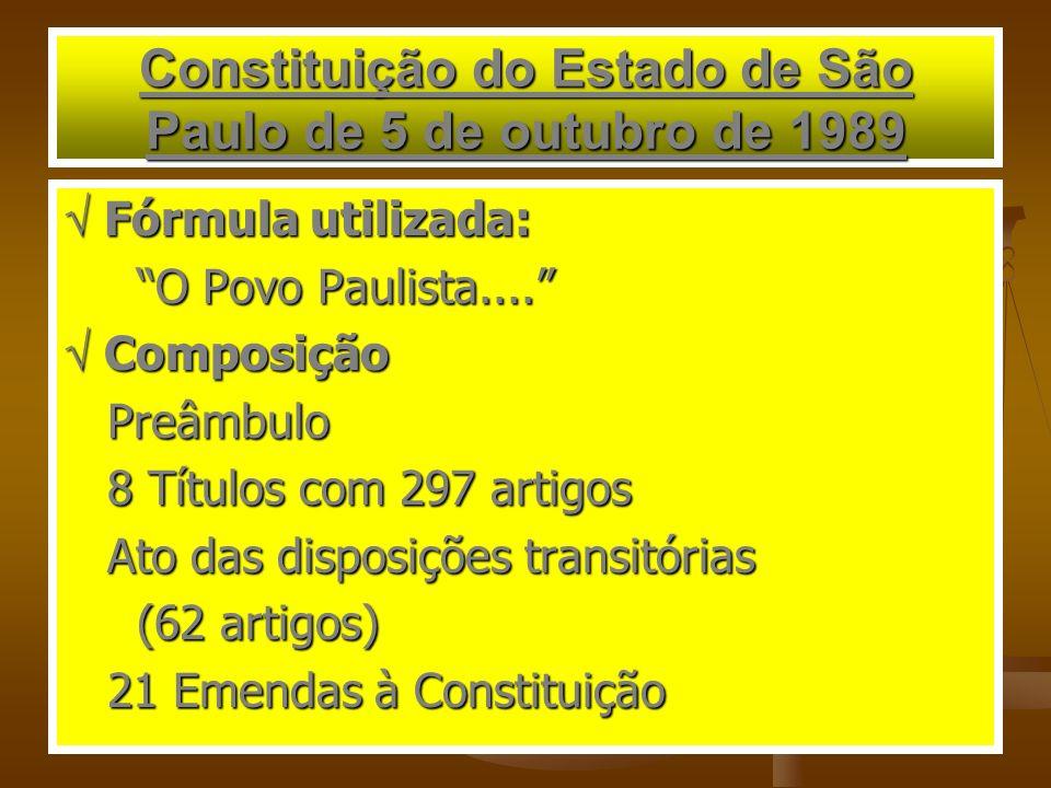 Constituição do Estado de São Paulo de 5 de outubro de 1989