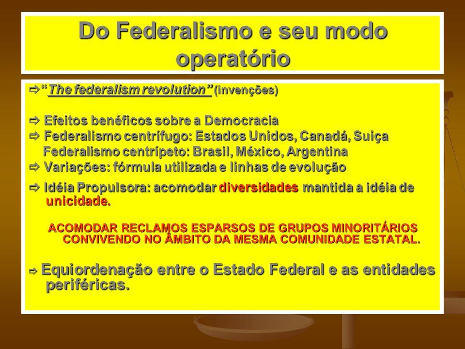 Do Federalismo e seu modo operatório