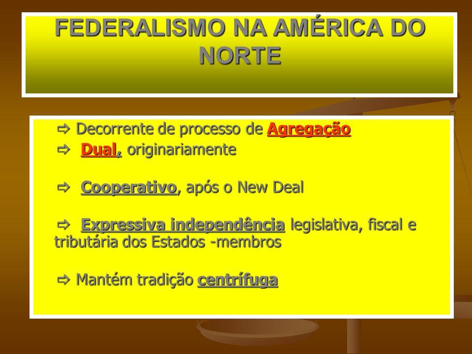FEDERALISMO NA AMÉRICA DO NORTE