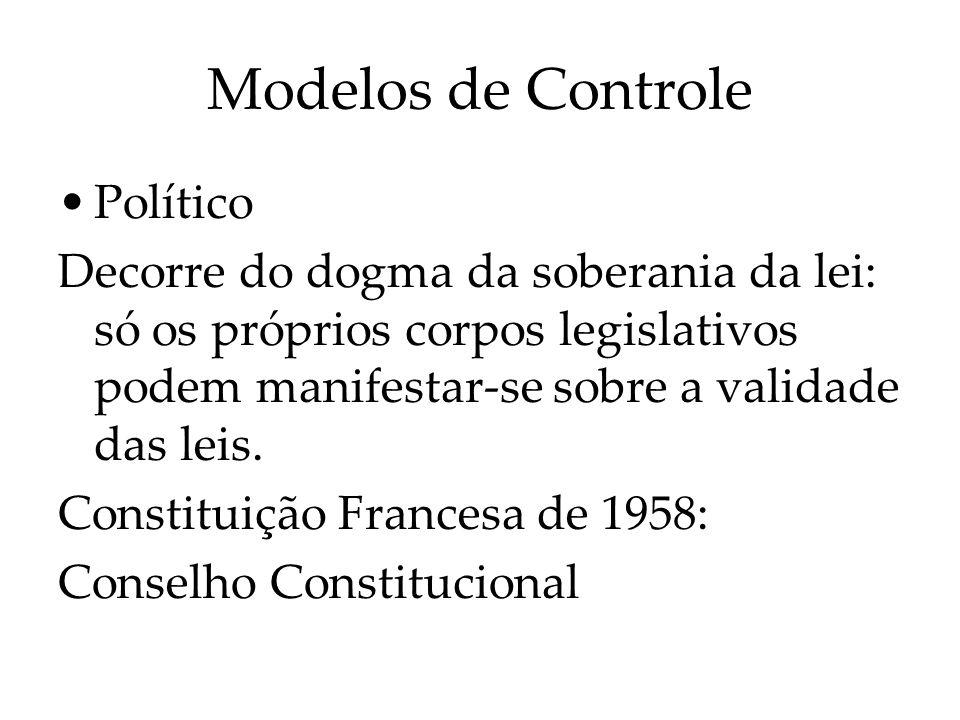 Modelos de Controle Político