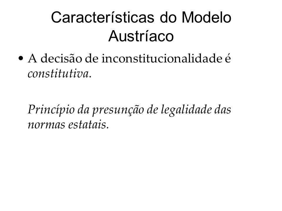 Características do Modelo Austríaco