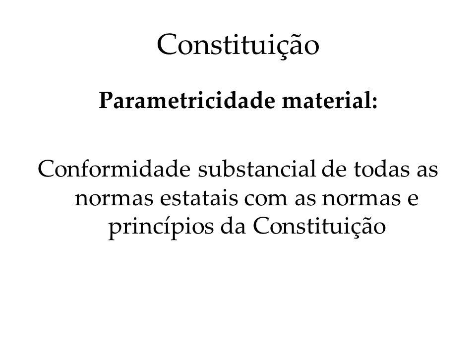 Parametricidade material: