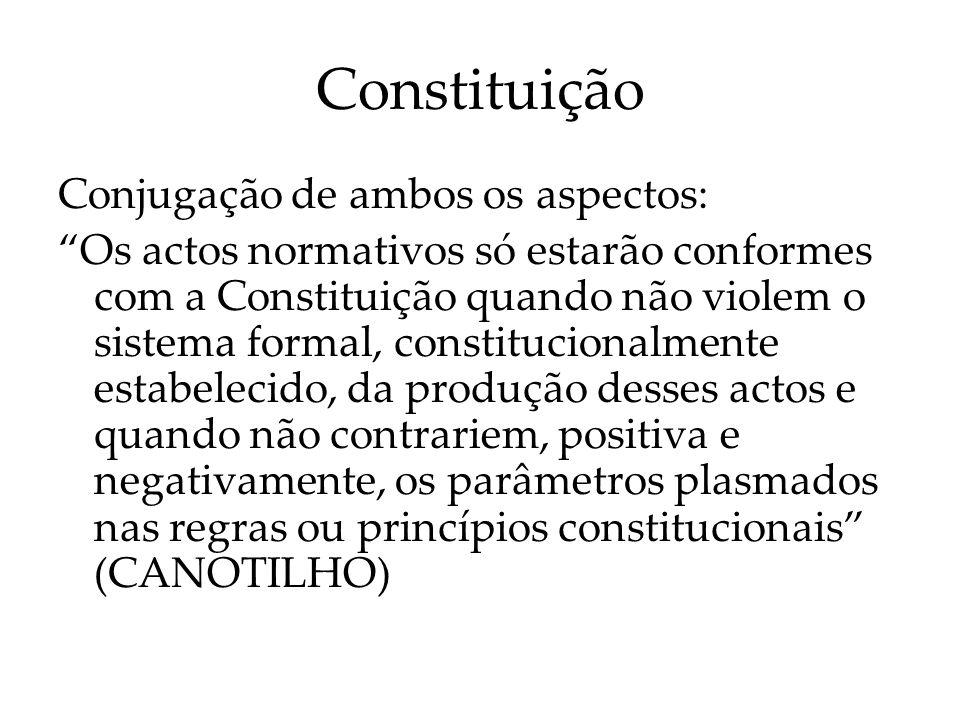 Constituição Conjugação de ambos os aspectos: