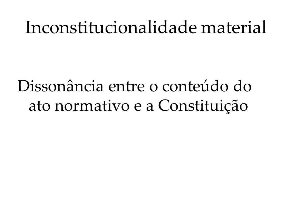 Inconstitucionalidade material