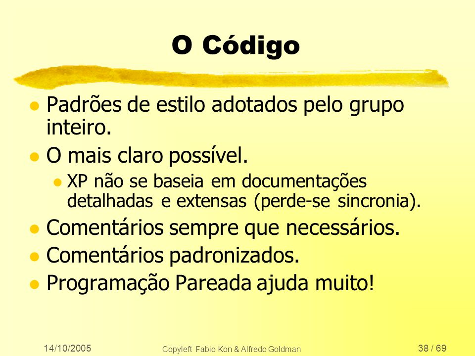 Copyleft Fabio Kon & Alfredo Goldman