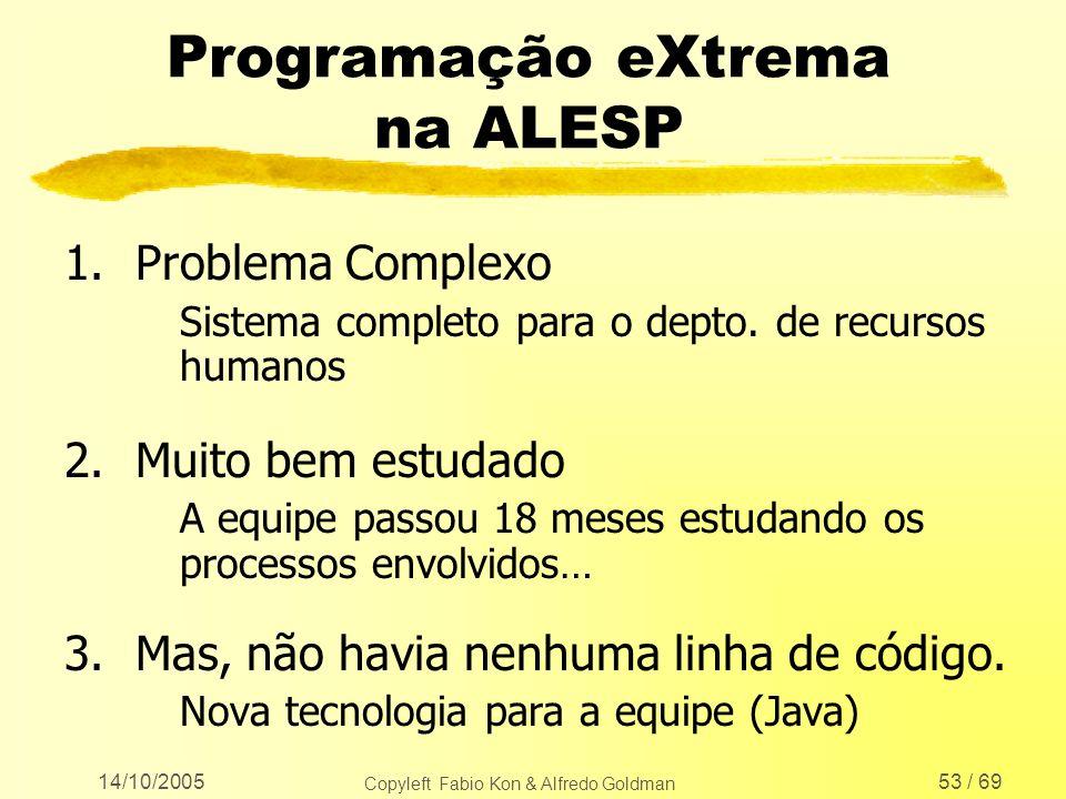 Programação eXtrema na ALESP