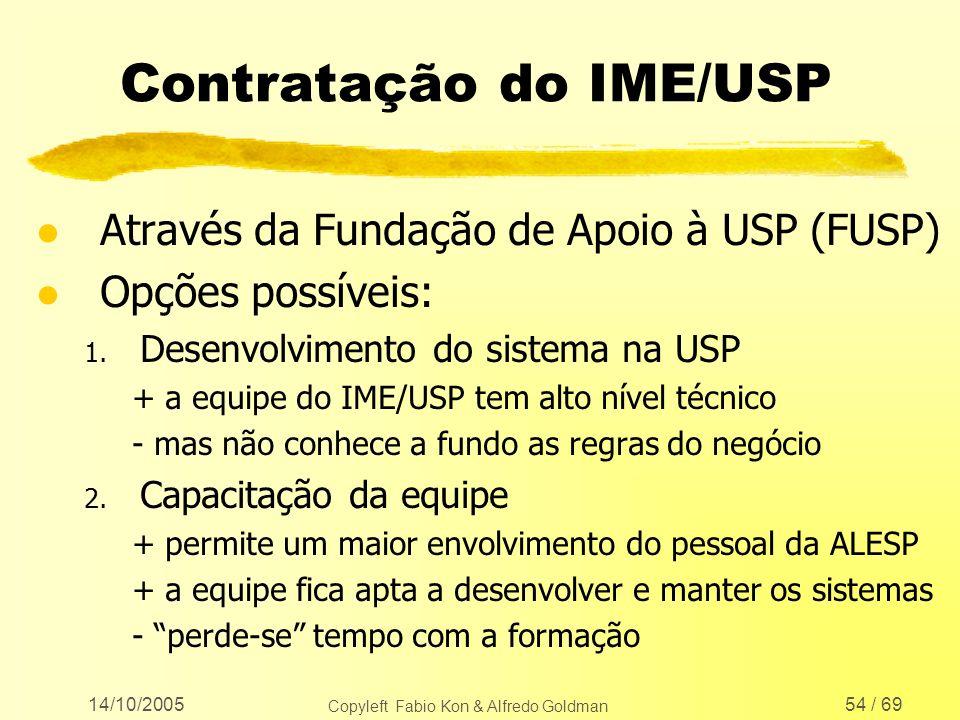 Contratação do IME/USP