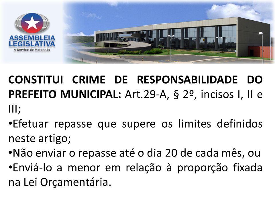 CONSTITUI CRIME DE RESPONSABILIDADE DO PREFEITO MUNICIPAL: Art