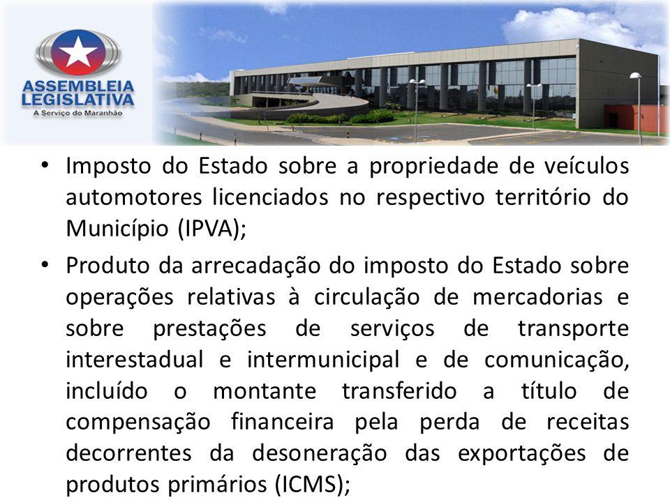 Imposto do Estado sobre a propriedade de veículos automotores licenciados no respectivo território do Município (IPVA);