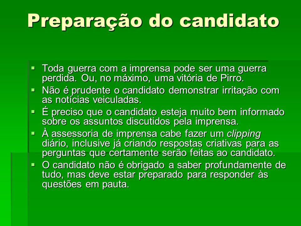 Preparação do candidato