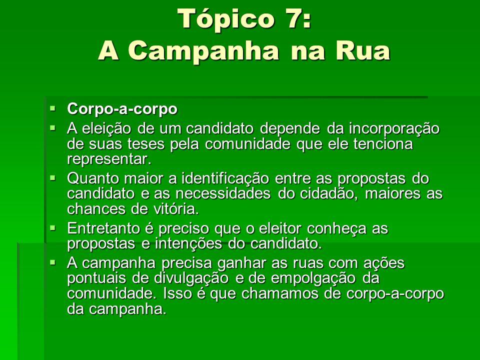 Tópico 7: A Campanha na Rua