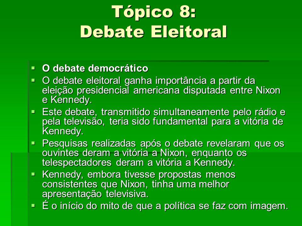 Tópico 8: Debate Eleitoral