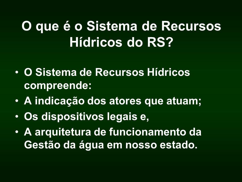 O que é o Sistema de Recursos Hídricos do RS