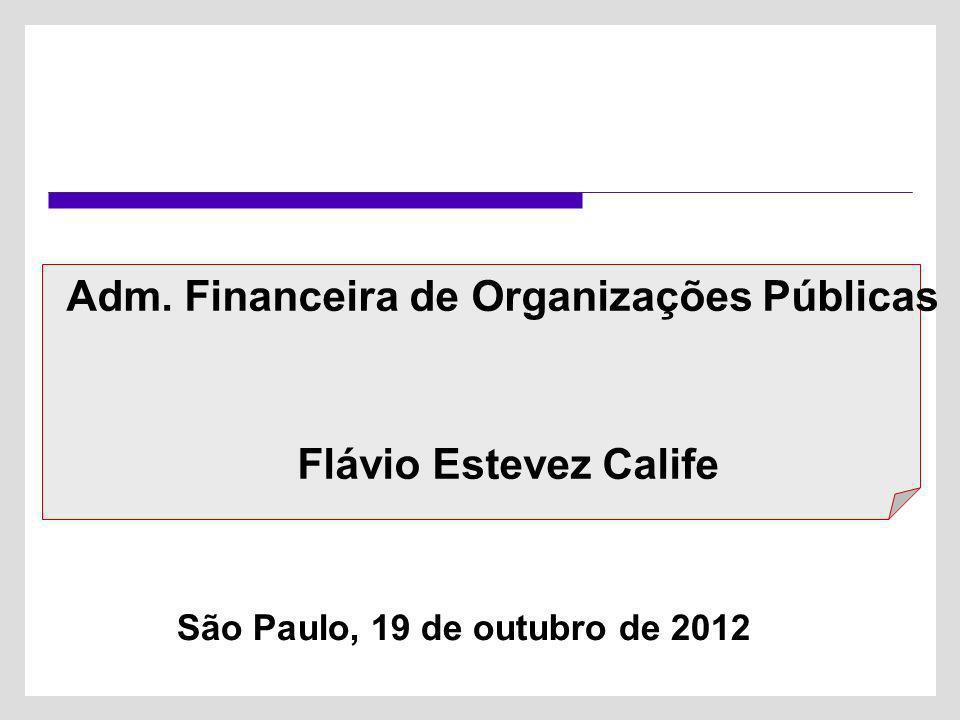 Adm. Financeira de Organizações Públicas