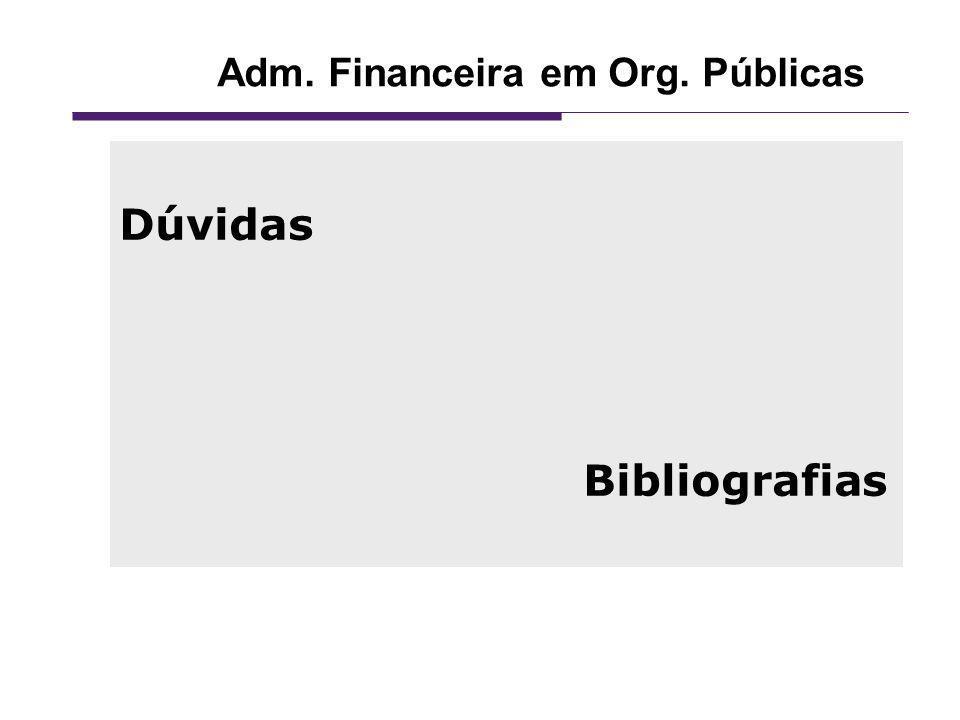 Adm. Financeira em Org. Públicas