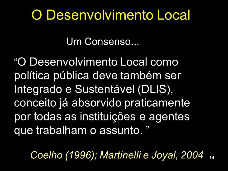 O Desenvolvimento Local