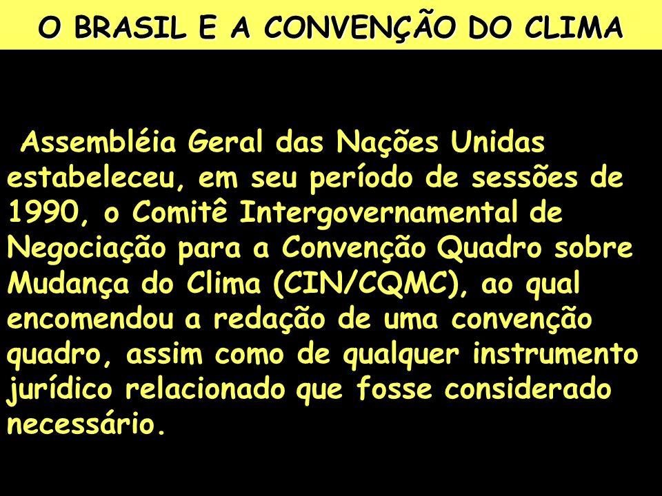 O BRASIL E A CONVENÇÃO DO CLIMA