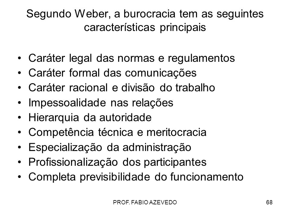 Caráter legal das normas e regulamentos