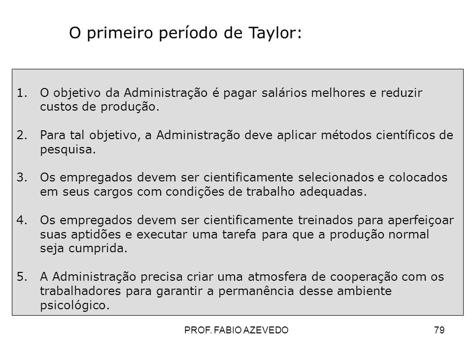 O primeiro período de Taylor: