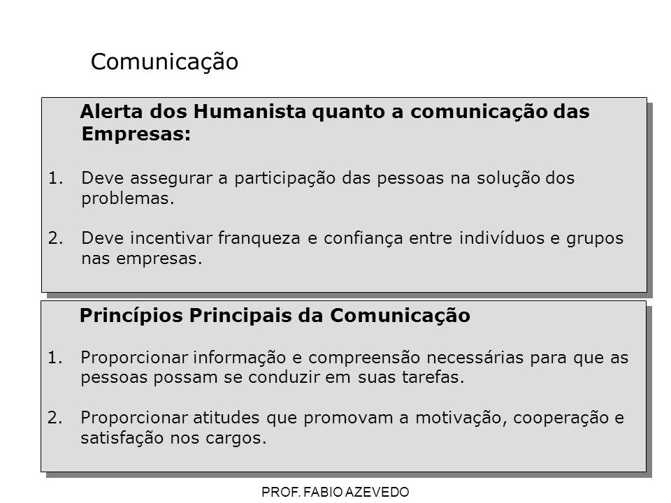 Comunicação Alerta dos Humanista quanto a comunicação das Empresas: