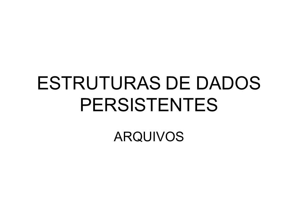ESTRUTURAS DE DADOS PERSISTENTES