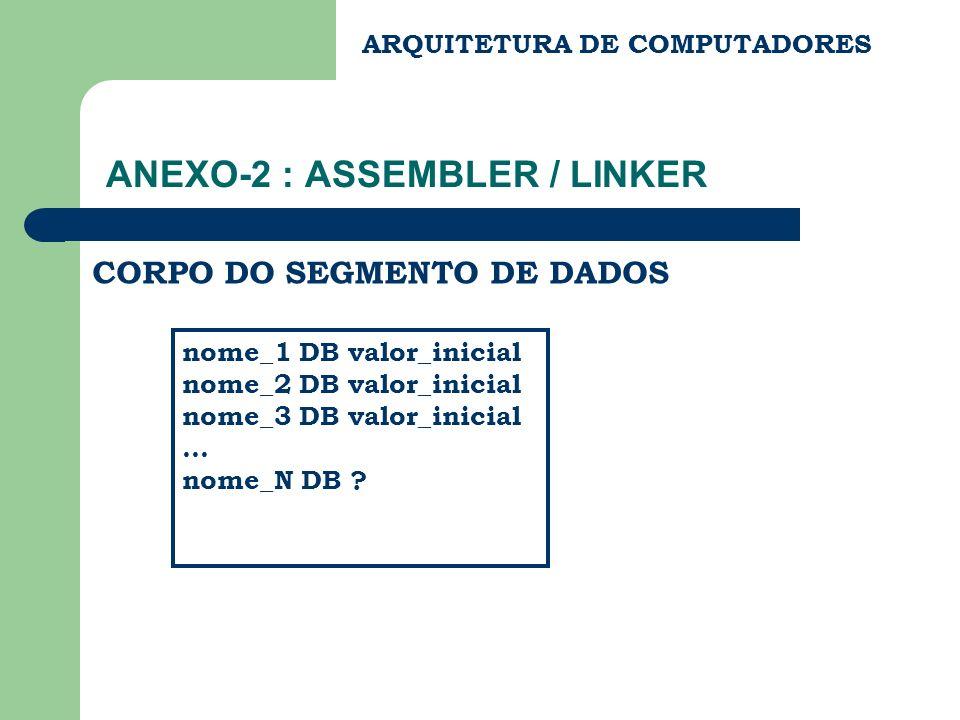 ANEXO-2 : ASSEMBLER / LINKER