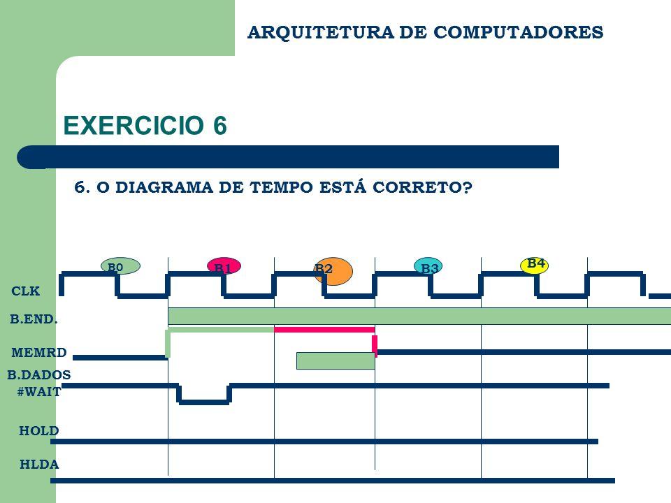 EXERCICIO 6 ARQUITETURA DE COMPUTADORES