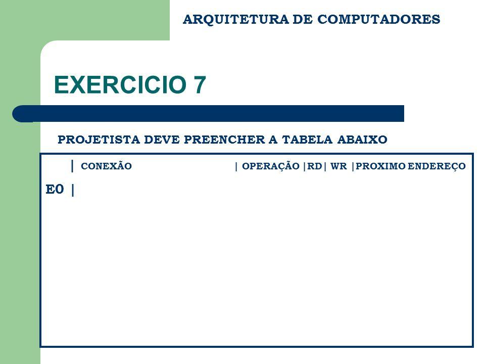 EXERCICIO 7 ARQUITETURA DE COMPUTADORES