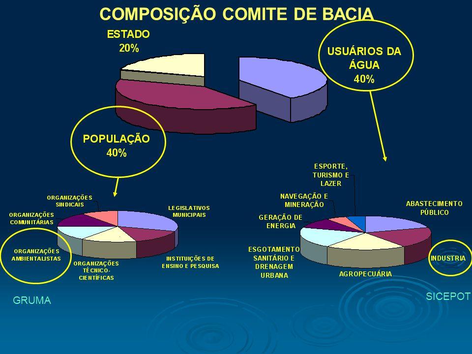 COMPOSIÇÃO COMITE DE BACIA
