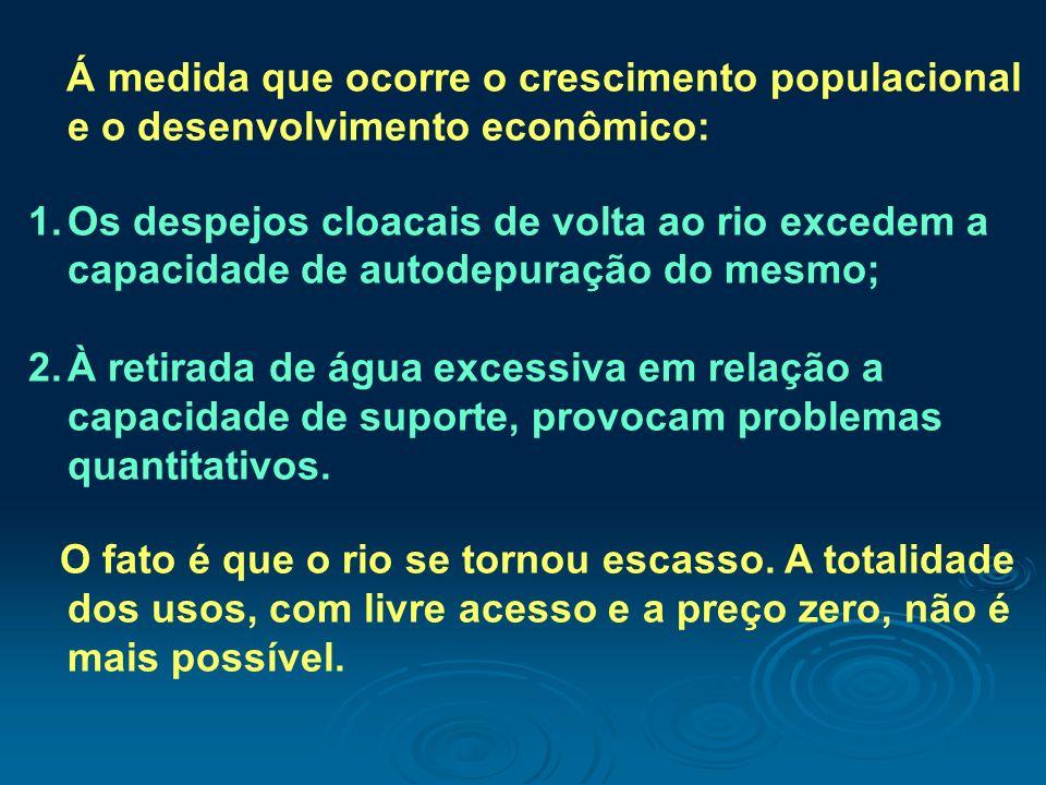 Á medida que ocorre o crescimento populacional e o desenvolvimento econômico: