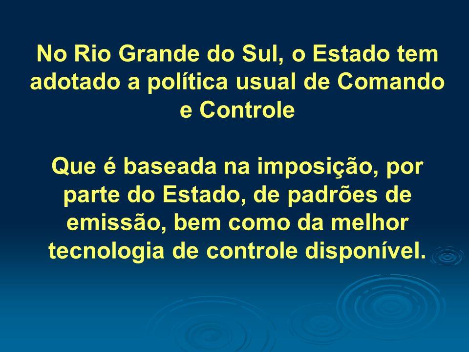 No Rio Grande do Sul, o Estado tem adotado a política usual de Comando e Controle