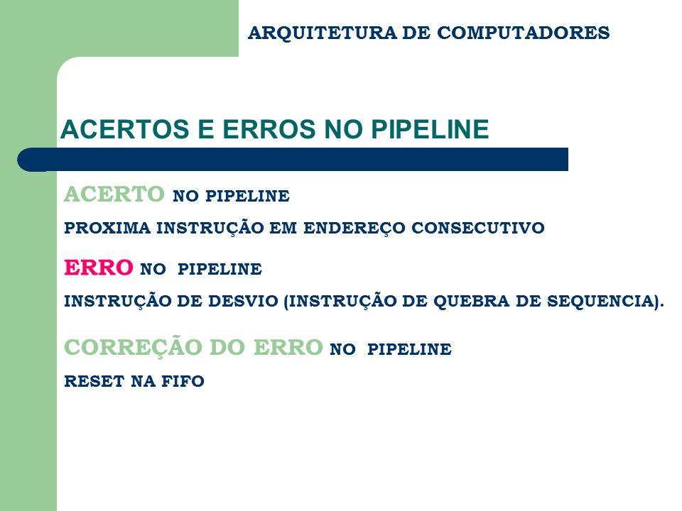 ACERTOS E ERROS NO PIPELINE
