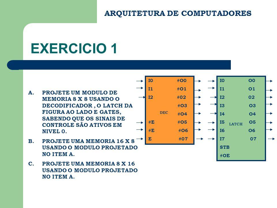 EXERCICIO 1 ARQUITETURA DE COMPUTADORES