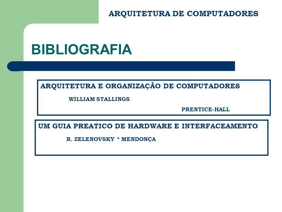 BIBLIOGRAFIA ARQUITETURA DE COMPUTADORES