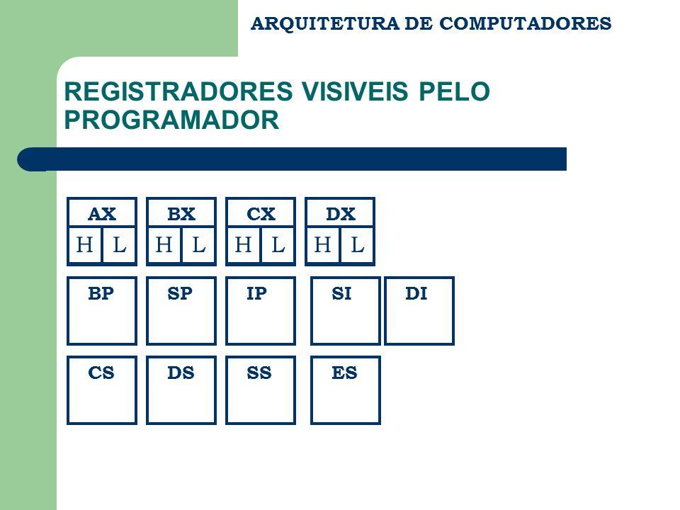 REGISTRADORES VISIVEIS PELO PROGRAMADOR