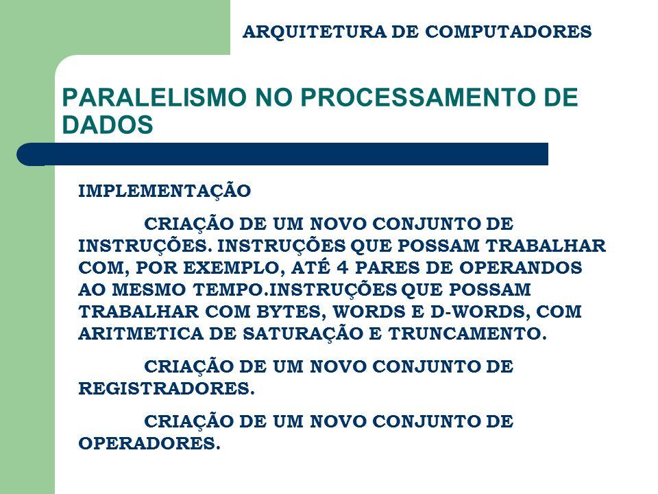 PARALELISMO NO PROCESSAMENTO DE DADOS