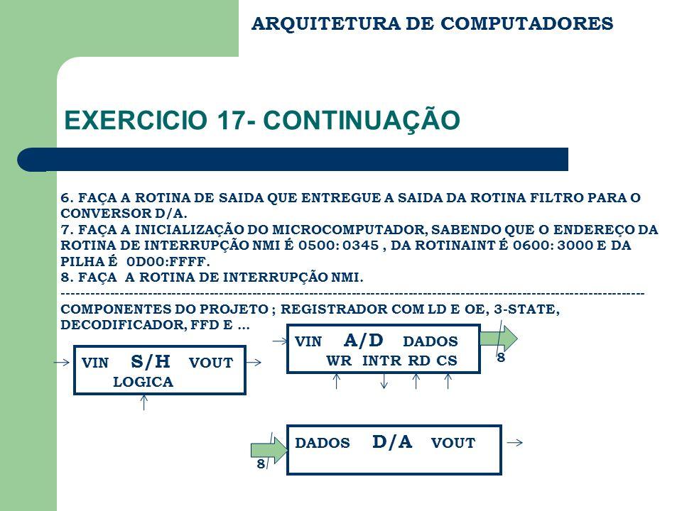 EXERCICIO 17- CONTINUAÇÃO