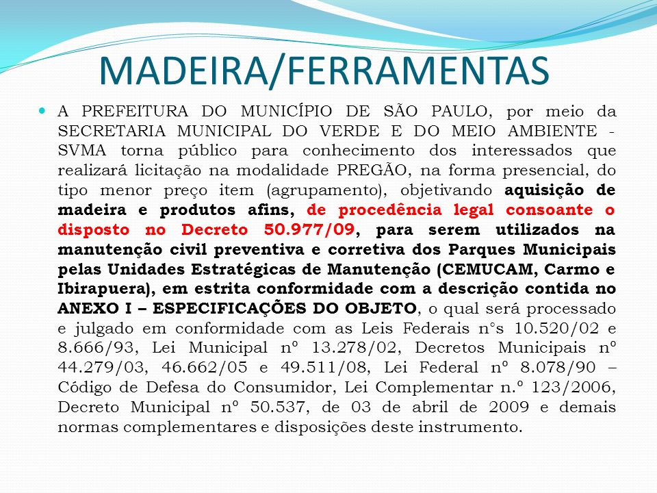 MADEIRA/FERRAMENTAS