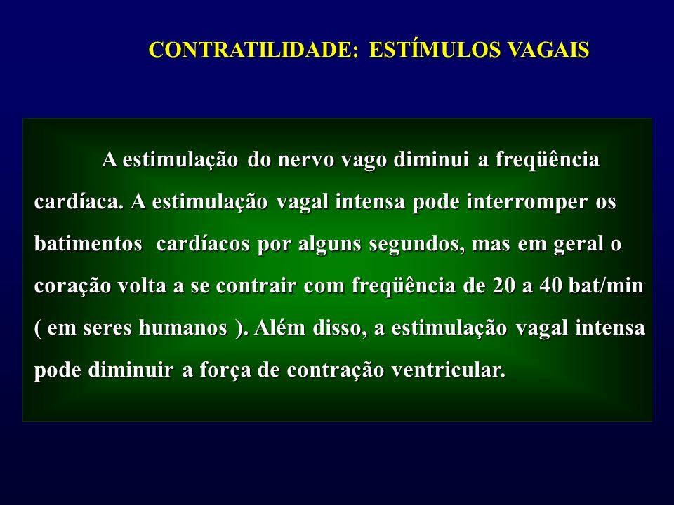 A estimulação do nervo vago diminui a freqüência