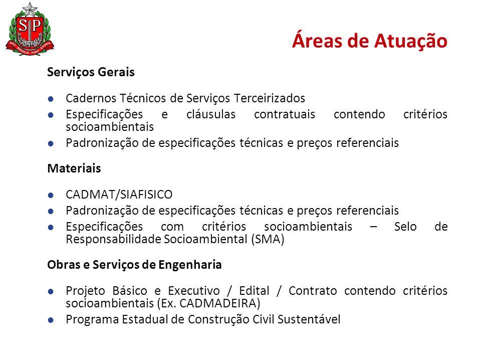 Áreas de Atuação Serviços Gerais