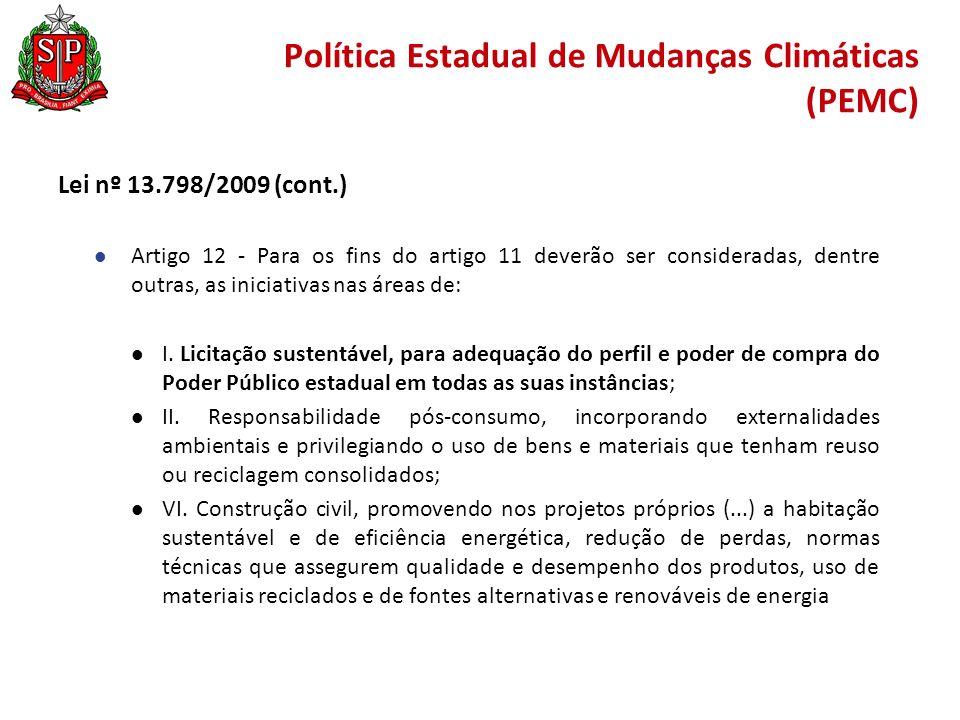 Política Estadual de Mudanças Climáticas (PEMC)