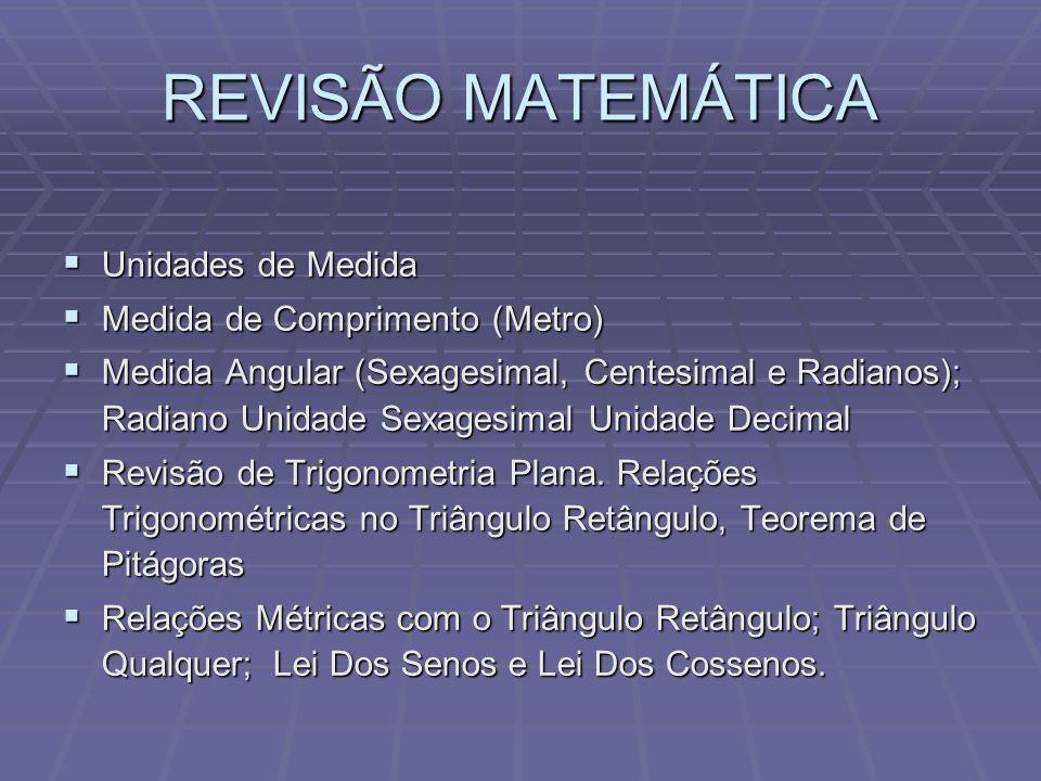 REVISÃO MATEMÁTICA Unidades de Medida Medida de Comprimento (Metro)