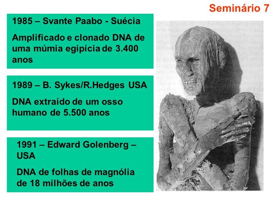 Seminário 7 1985 – Svante Paabo - Suécia