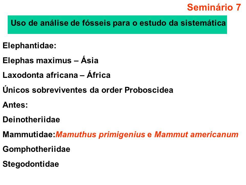 Seminário 7 Uso de análise de fósseis para o estudo da sistemática