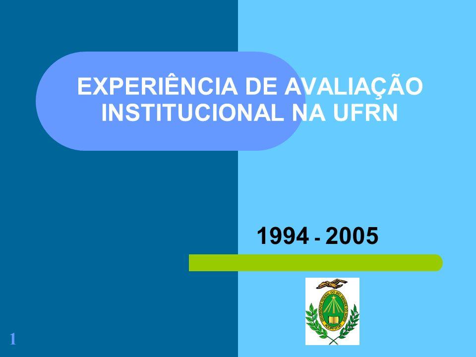 EXPERIÊNCIA DE AVALIAÇÃO INSTITUCIONAL NA UFRN