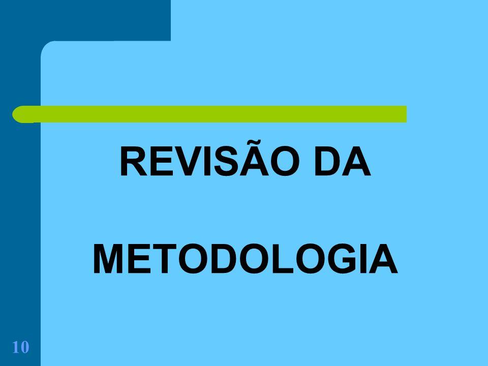 REVISÃO DA METODOLOGIA