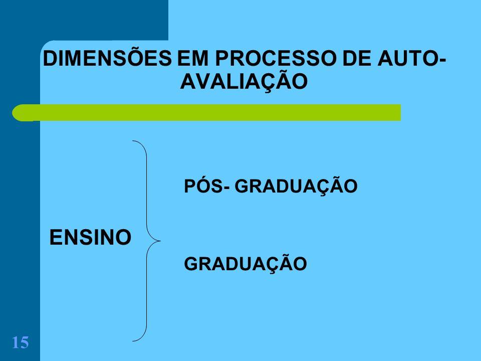 DIMENSÕES EM PROCESSO DE AUTO-AVALIAÇÃO