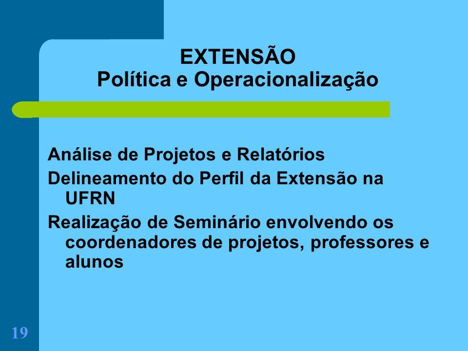 EXTENSÃO Política e Operacionalização